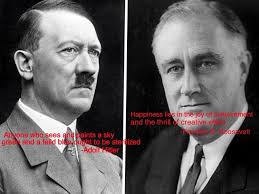 the second world war hitler and franklin d roosevelt quotes