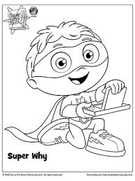 Small Picture SUPER WHY Coloring Book Pages Parents Books and Birthdays