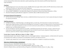 Music Resume Template Music Resume Template Sample Music Teacher ...