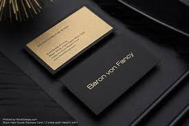 Metallic Printing Simple Professional Black Visit Card