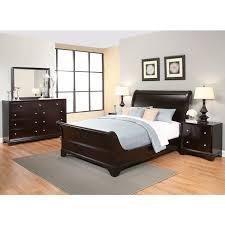 Abbyson Kingston 5piece Espresso Sleigh Kingsize Bedroom Set