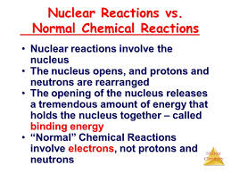 normal chemical reactions