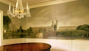 cambridge mural additional view mural was painted above chair rail extending to crown on all four walls in dining room l