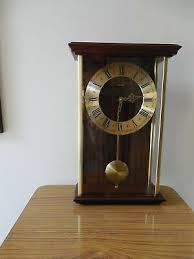 vtg metamec pendulum wall clock glass