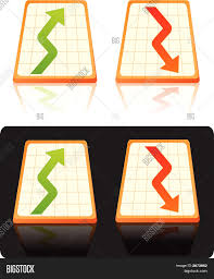 Stock Chart Up Stock Chart Down Vector Photo Free Trial Bigstock