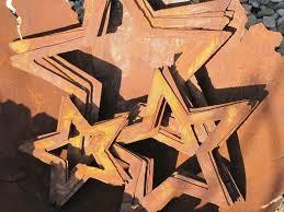 Edelrost Stern Zum Hängen Metall Metallstern Roststern