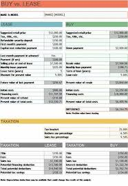 lease vs buy calculator excel car lease calculator spreadsheet elegant vs buy analysis excel