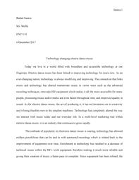 Music Essay Grade A Enc 1102 College Writing 2 Studocu