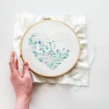 Love Hand Embroidery Designs Love Hand Embroidery Pattern Pdf Hand Embroidery