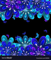 black and purple and blue background. Contemporary Black Flower Blue On Black Background Vector Image Intended Black And Purple Blue Background G