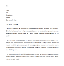 Admission Counselor Cover Letter Unique Mba Admission Thank You Letter Sample Lezincdc