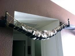 outdoor cat furniture over the door tree cool bridge house diy