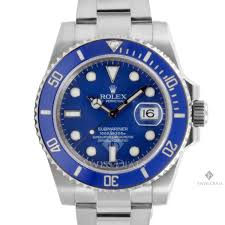 men s rolex submariner white gold watch blue dial ceramic blue rolex submariner 18k white gold watch