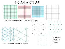 Graph Paper Squared Paper Isometric Paper And Spotty Paper A4 And A3 180 Variations