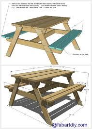 diy wood picnic table plan