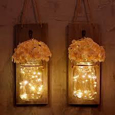 Loft Living Led String Lights Sunicol Led String Light 1 Set Of 2 Packs Vintage Mason Jar