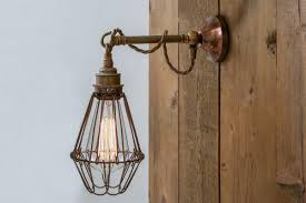 edom industrial cage wall light
