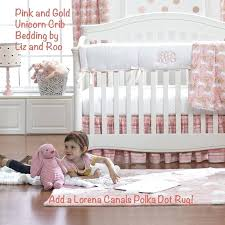 pink and gold crib bedding hot