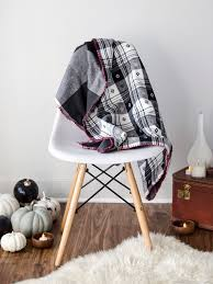 diy flannel throw cozy up