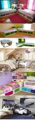 brilliant joyful children bedroom furniture. DIY Twin Corner Beds With Storage. Good Layout If The Kids Have To Share A Room And Don\u0027t Want Bunk Bed Brilliant Joyful Children Bedroom Furniture T