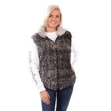Simply Southern Sherpa Size Chart Simply Southern Adult Sherpa Vest Steel Vest Simply