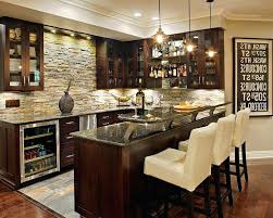 basement bar ideas. Home Bar Ideas Stone Basement Traditional With Lighting .