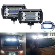 Suv Light Bar 5 Inch Led Light Bar 6000k 72w Driving Light For Car 4x4 Offroad Jeep Suv Uaz Working Fog Lights Motorcycle Headlight 12v 24v