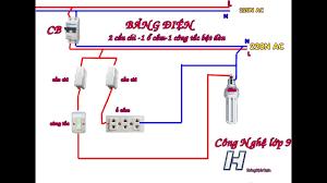 Mạch điện 2 cầu chì 1 ổ cắm điện 1 công tắc điều khiển 1 đèn(Công nghệ điện  9 - YouTube