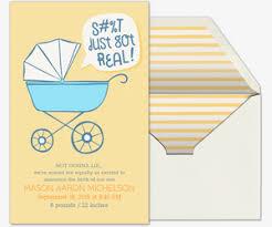 Premium Birth Announcement Cards Evite