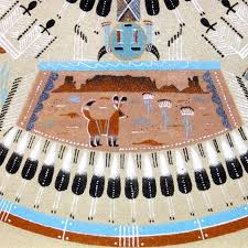 image of a navajo sand painting