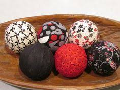 Red Decorative Balls For Bowls Sea Foam Decorative Fabric Rag Balls Fabric Chotchkies fabric 24