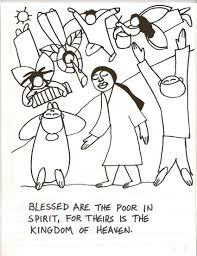 Small Picture Beatitudes Coloring Pages