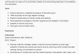Dishwasher Resume Samples How To Write A Cv Best Type A Resume New Help Write A Resume From