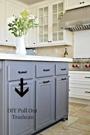 Diy Kitchen Cabinet Drawers Turn A Door And A Drawer Into A Pull Out Trash Can