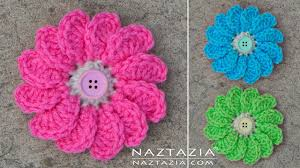 Crochet Flower Pattern Gorgeous DIY Tutorial Learn How To Crochet Flowing Flower Flowers With