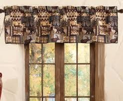 curtain ideas for cabin bathroom window interior design woodland valance gif rustic curtains treatments remarkable images
