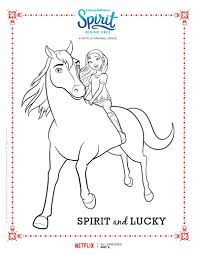 Small Picture Spirit Riding Free Spirit and Lucky Coloring Page Books and