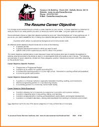 Career Change Resume Objective Examples For Resumes Statement