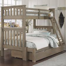 NE Kids Highlands Mission Style Twin Over Full Harper Bunk Bed ...