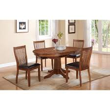 30 Inch Round Kitchen Table Two Toned Oval Dining Table Turned Pedestal Base Cherry Finish On