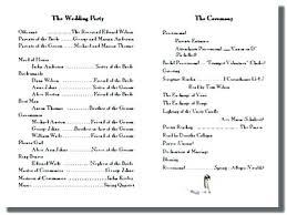 wedding program template free word wedding program templates free online printable ceremony programs