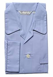 rose personalised pyjamas for men in light blue with monogram or initials embroidery