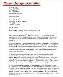 Examples Of Career Change Cover Letters Career Change Cover Letters