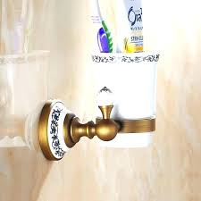 astonishing wall mounted bathroom accessories wall mounted cup holder crystal chrome brass wall mounted bathroom accessories