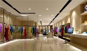 Ladies clothing store interior decoration view