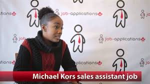 michael kors s assistant job