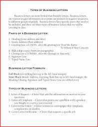Different Types Of Resumes Format Elegant Letter Samples Business