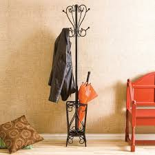 Iron Coat Rack Stand Charlton Home Reichman Metal Coat Rack with Umbrella Stand Reviews 97
