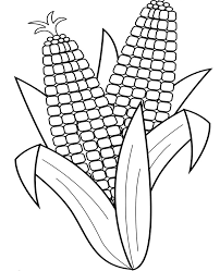 Corn Coloring Pages Corn Corn Coloringpages