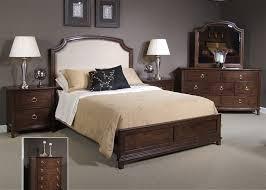 Midland Park Platform Bed 6 Piece Bedroom Set in Toffee Finish by